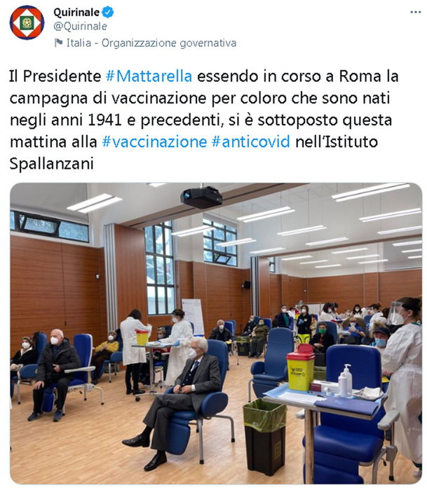 Weird Italy afa933c1433d79b361d1e22b2e0f44d1 COVID: Mattarella vaccinated at Spallanzani What happened in Italy today
