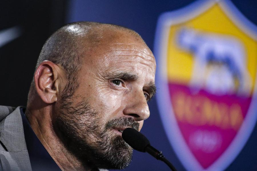 New AS Roma?s Sporting Director, Gianluca Petrachi, attends a press conference at the ?Fulvio Bernardini? sportive center in Rome, Italy, 04 July 2019. © ANSA