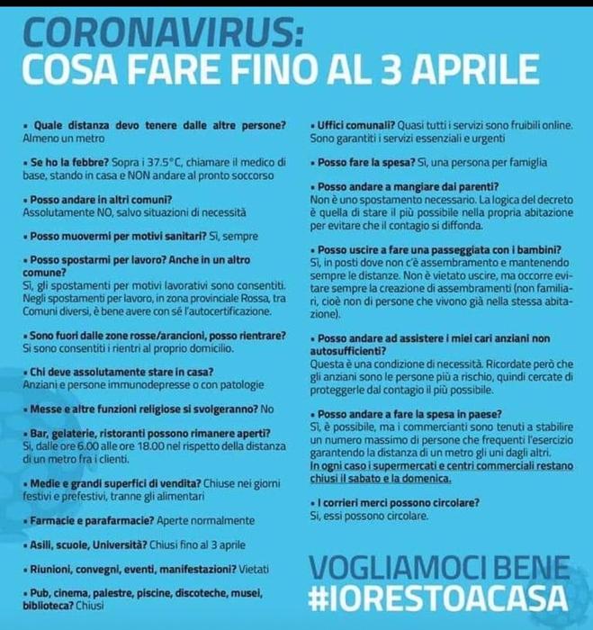 Coronavirus, Italia zona protetta. Ecco cosa si può fare © Ansa