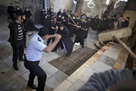 Cleaning of the Church of Nativity