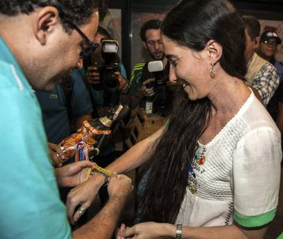 CUBAN BLOGGER YOANI SANCHEZ ARRIVES TO BRAZIL AT BEGINING OF HER WORLD TOUR TRIP