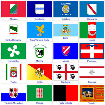 Image result for bandiere regioni