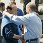 Berlusconi loses bet with Putin