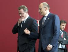 Letta denies row with Cameron