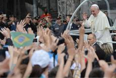 Pope says not judgemental of gays